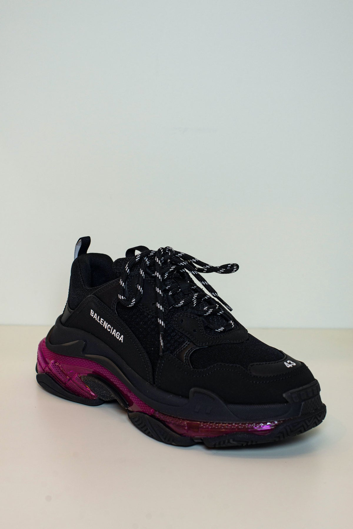 BALENCIAGA - Triple S Clear Sole M | Black/Pink Neon