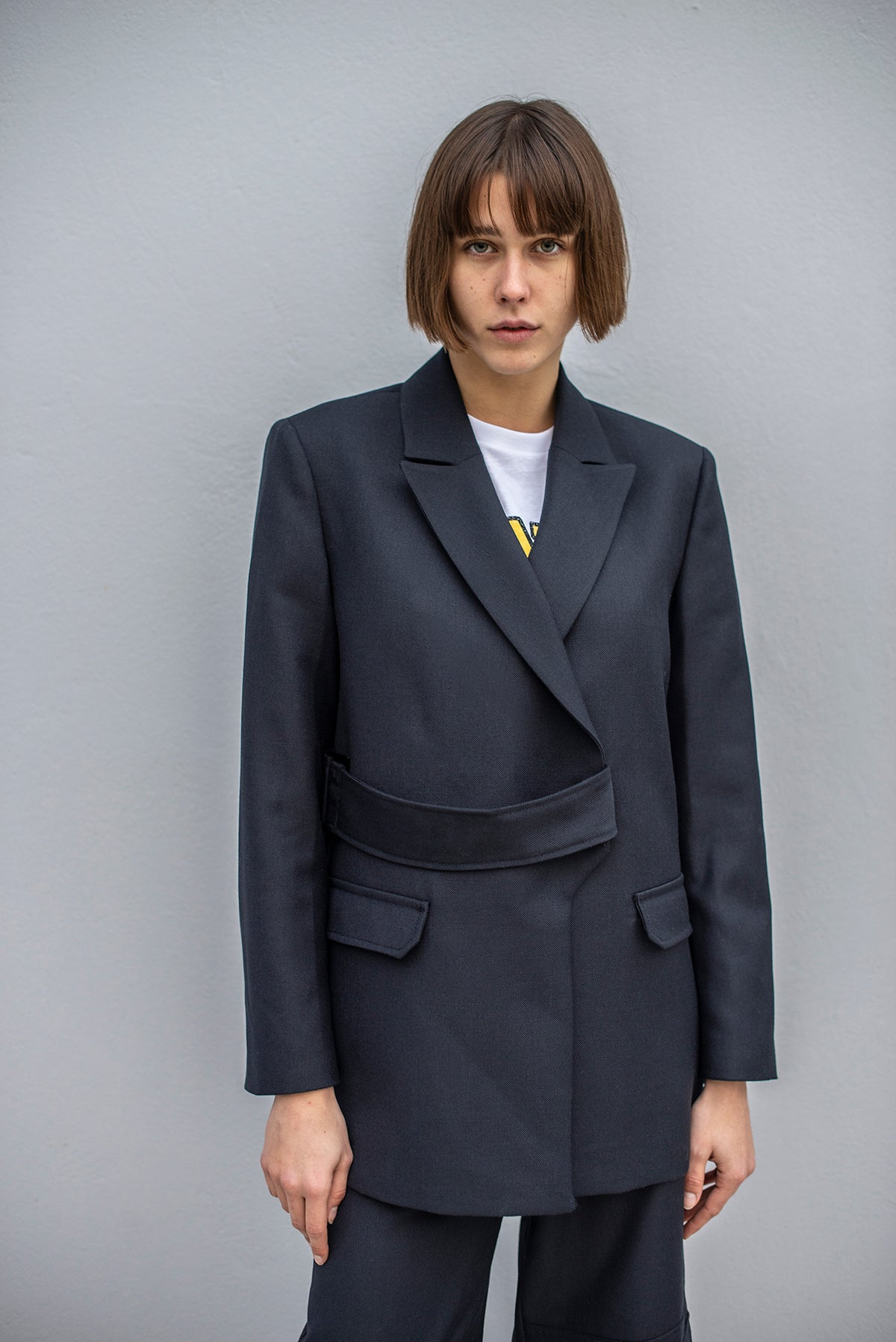 Ganni - Wool Suiting Blazer | Sky Captain