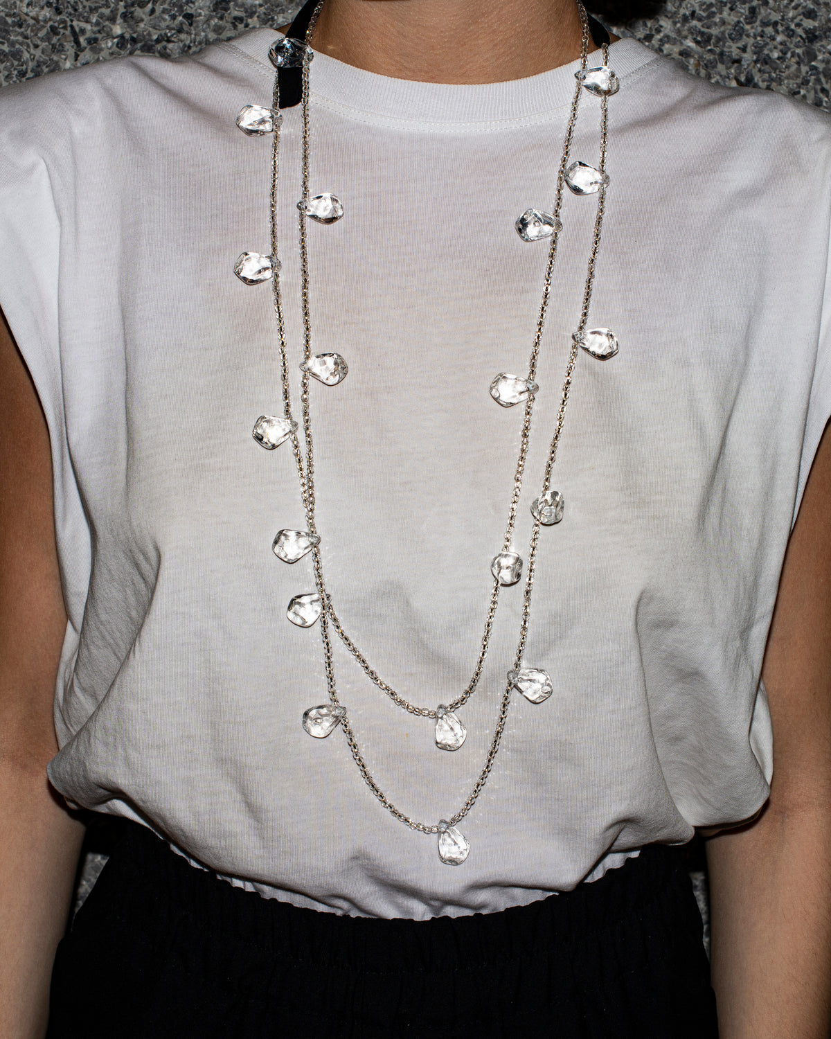 Maria Calderara - Necklace - Ice-Silver Crystal