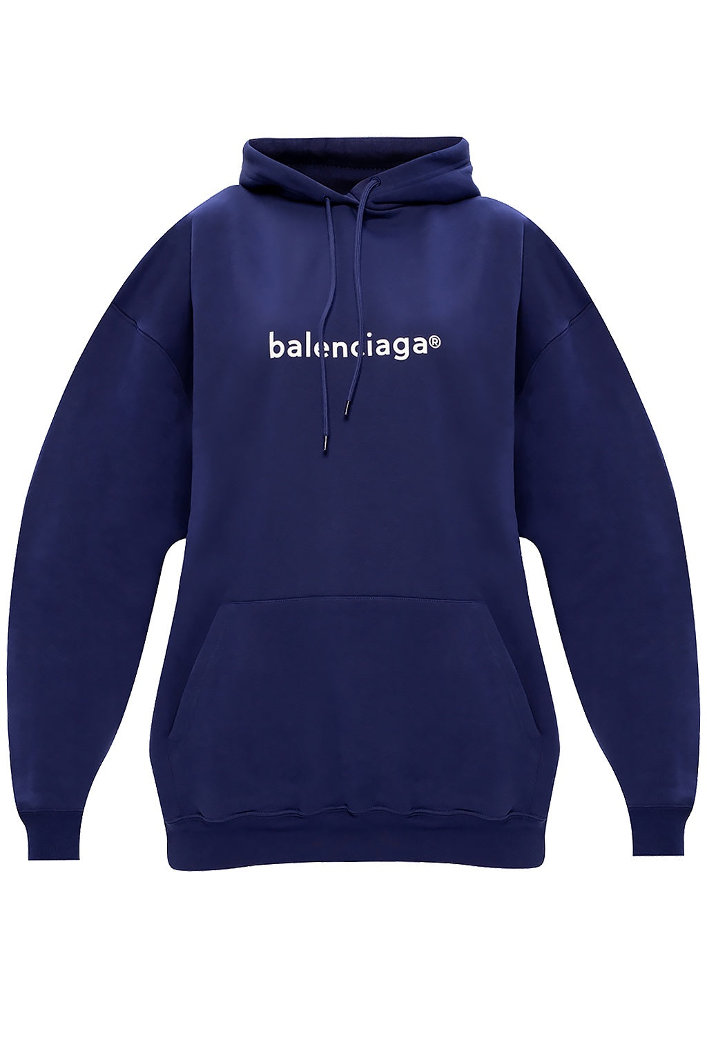 BALENCIAGA - Medium Fit Hoodie W | Pacific Blue/White