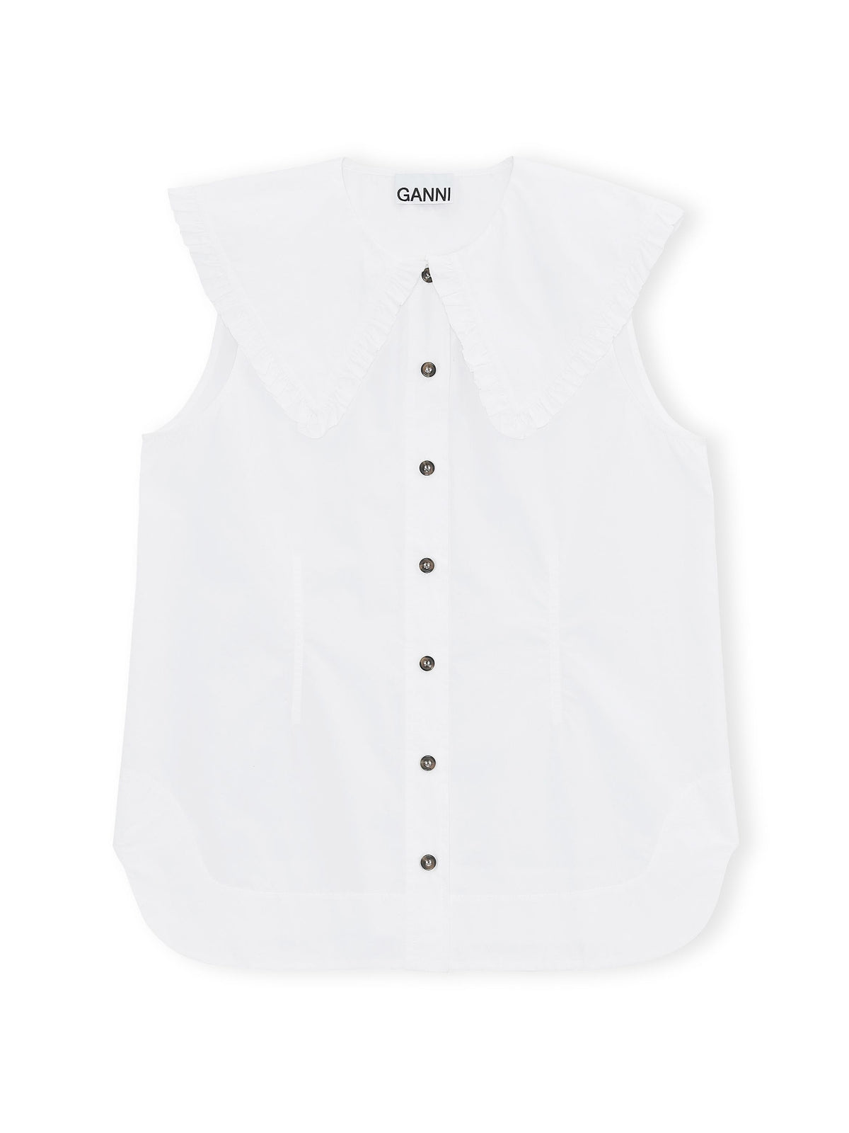 Ganni - Cotton Poplin Shirt | Bright White