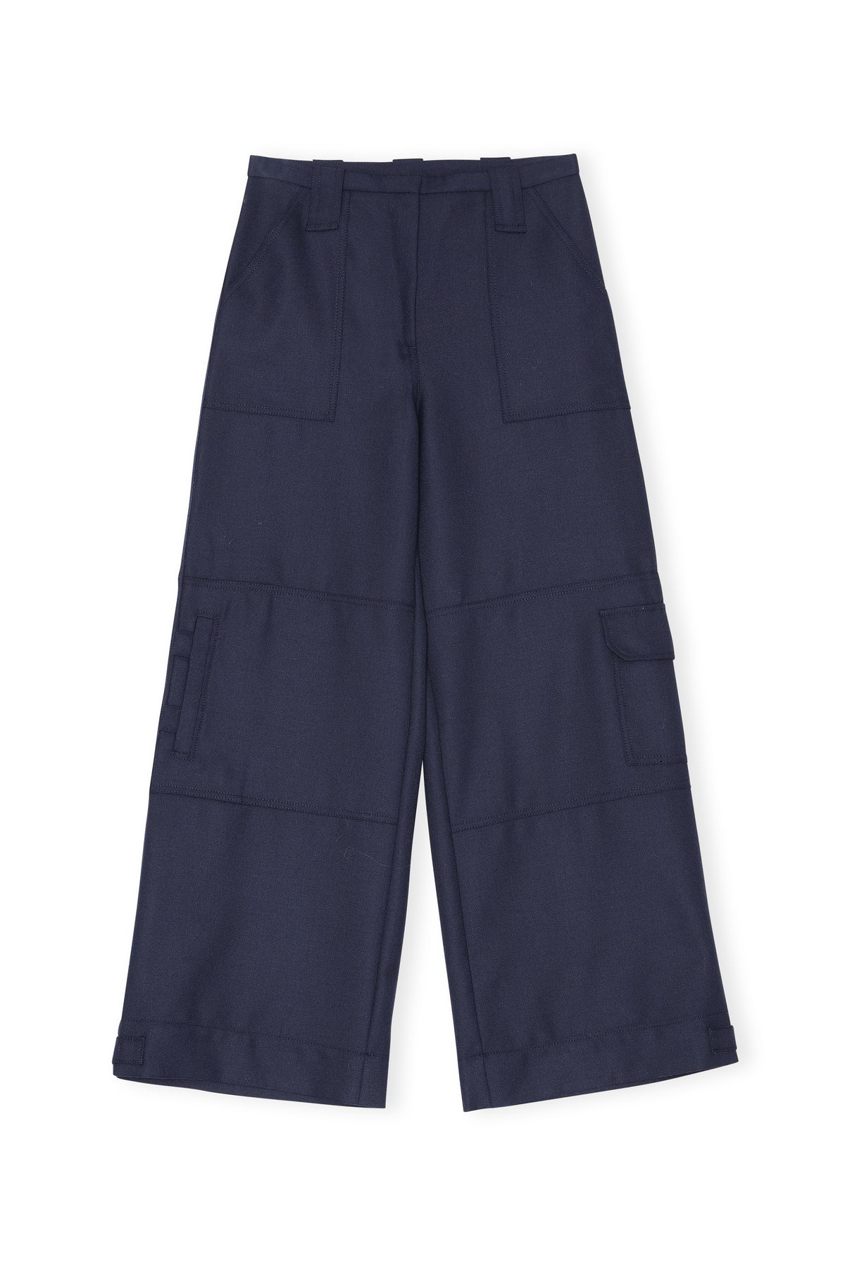 Ganni - Wool Suiting Trousers | Sky Captain