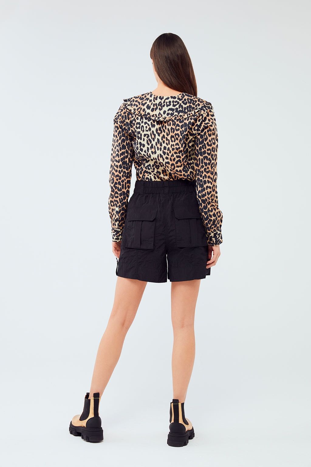 Ganni - Printed Cotton Poplin Shirt | Leopard