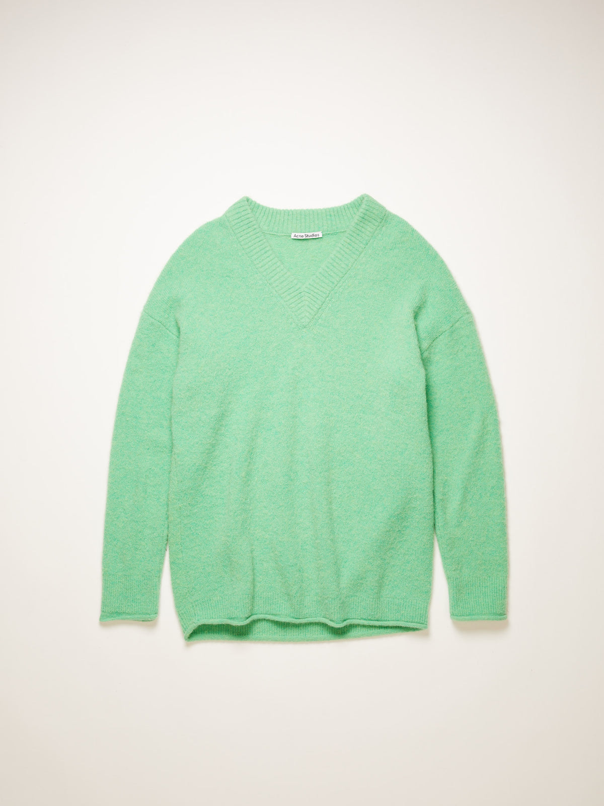 Keandra Fluffy Alpaca Pullover | Bright Green