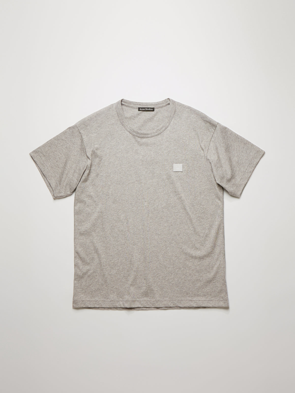 Acne Studios - Nash Face T-Shirt | Light Grey Melange