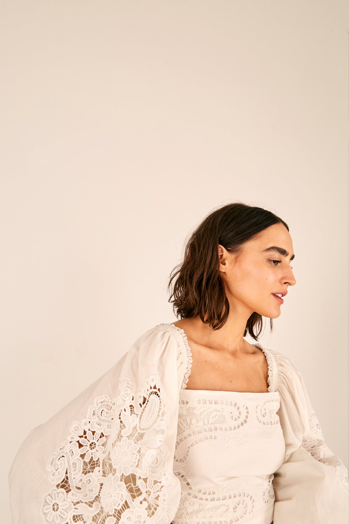 FARM Rio - Lace Blouse | Off-White