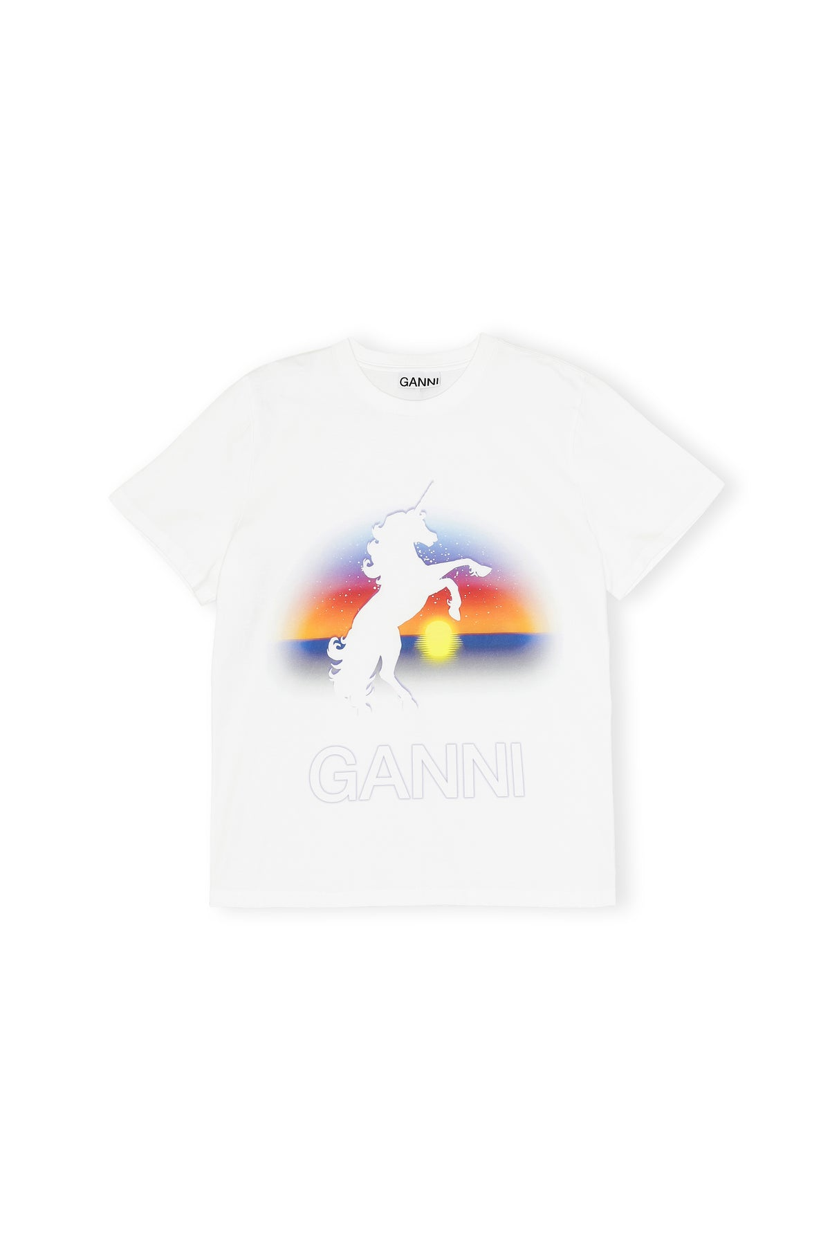 Ganni - Unicorn T-shirt | Bright White