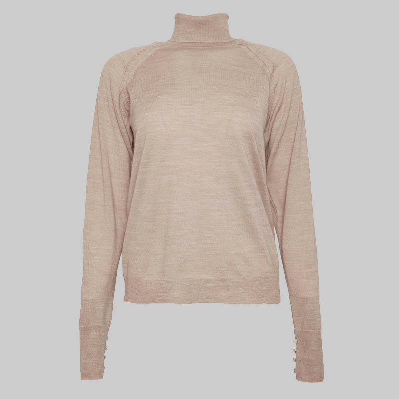 Acne Studios - Kamala Twisted Knit Pullover | Warm Beige