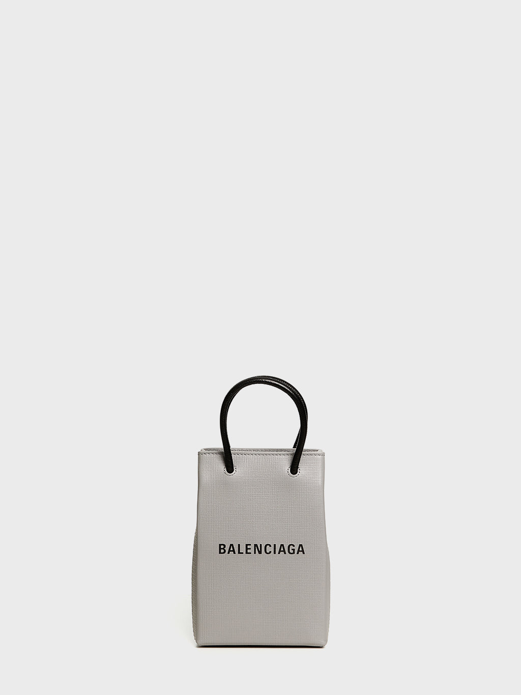 BALENCIAGA - Shopping Phone Holder Crossbody Bag | Grey