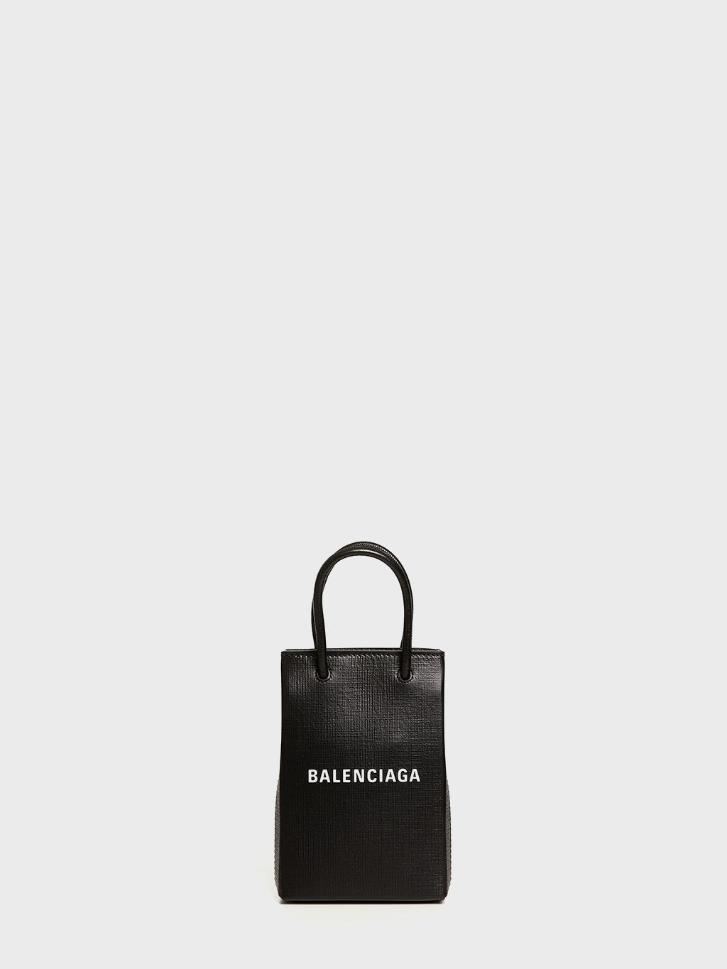 BALENCIAGA - Shopping Phone Holder Crossbody Bag | Black