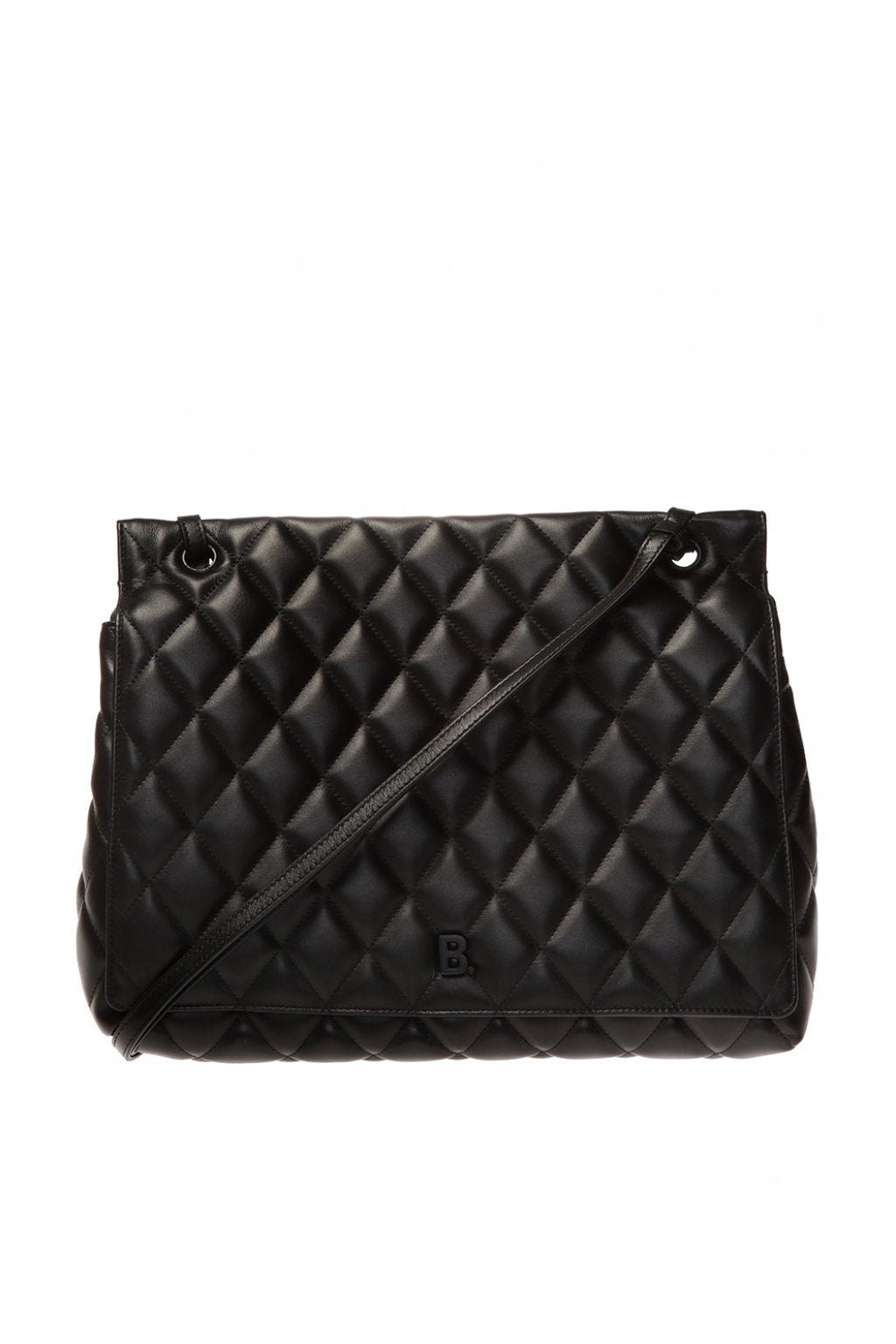 Quilted Shoulder Bag - Black