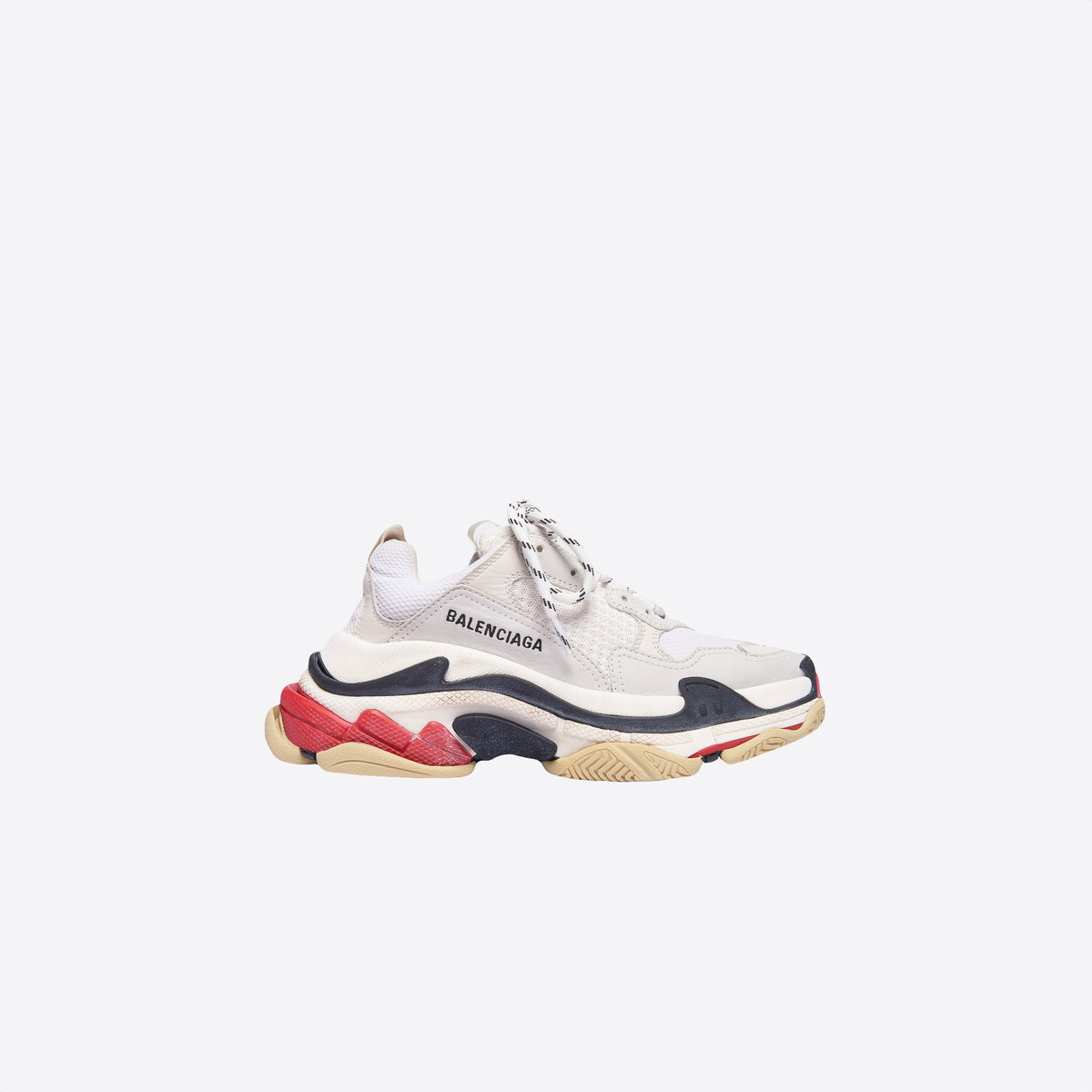 TRIPLE S SNEAKER - white/red/black