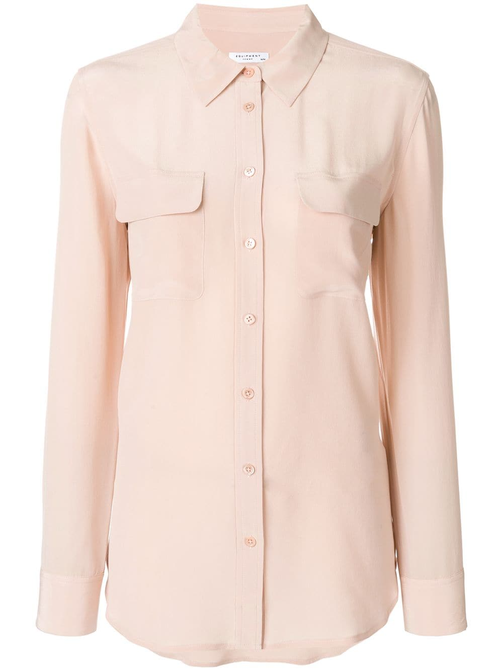 Equipment - Slim Signature Shirt - Nude