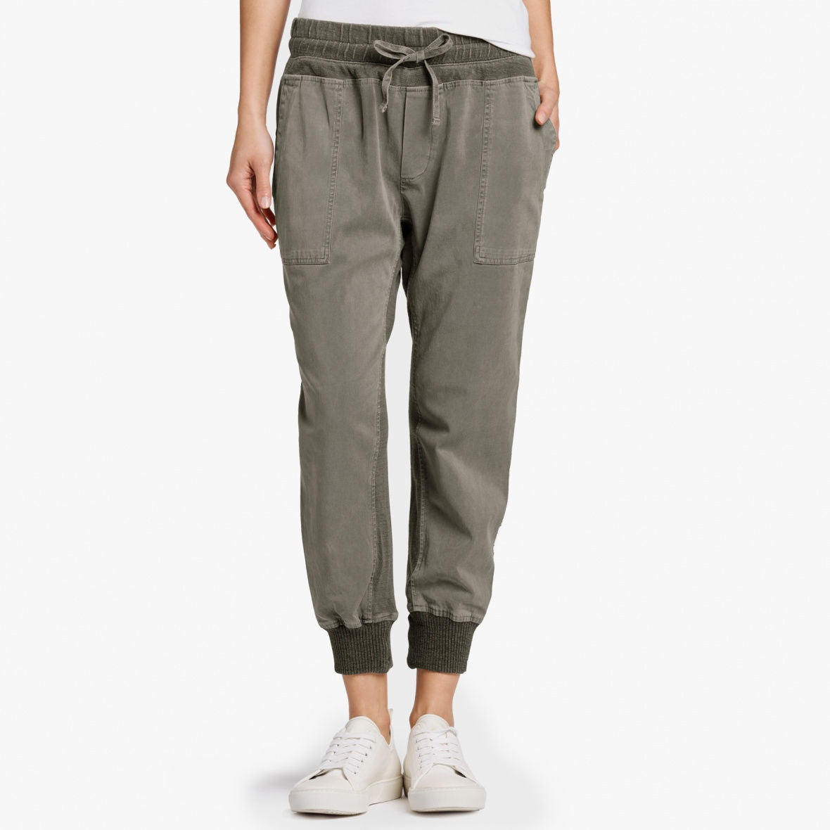 James Perse - Contrast Sweat Pant - Army Green
