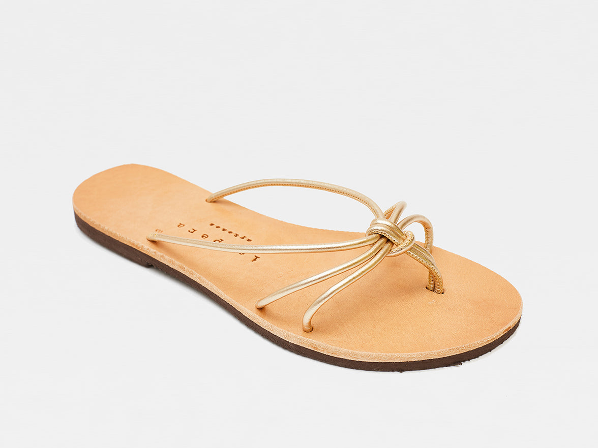 Isapera - Knot Sandals - Gold