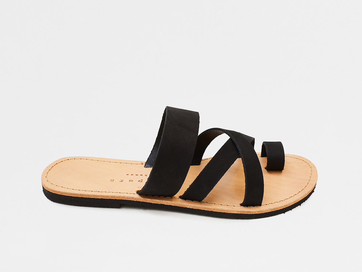 Isapera - Jay Sandals - Black