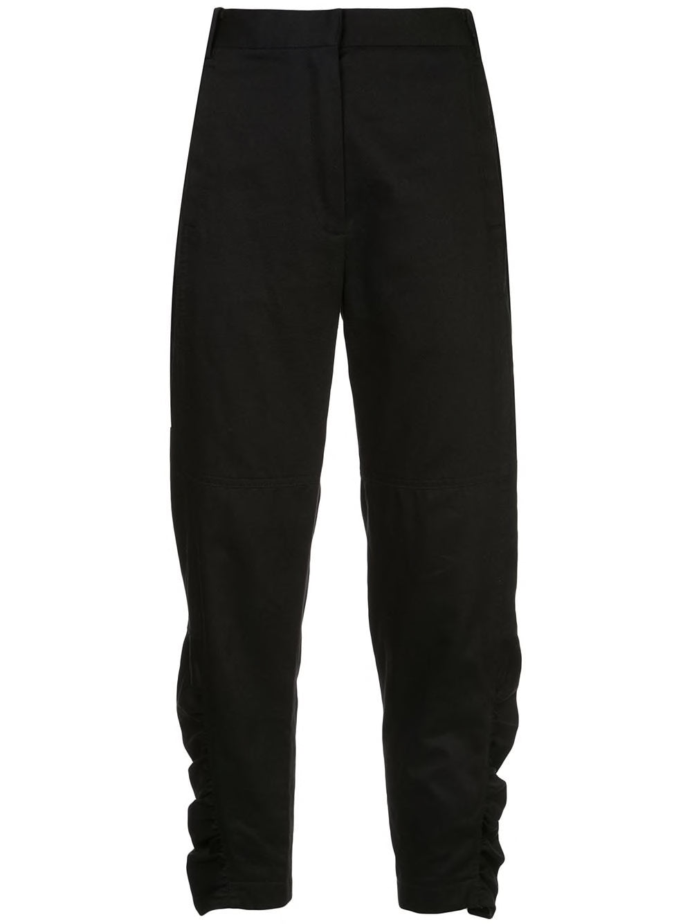 Chino Ruched Pants - Black