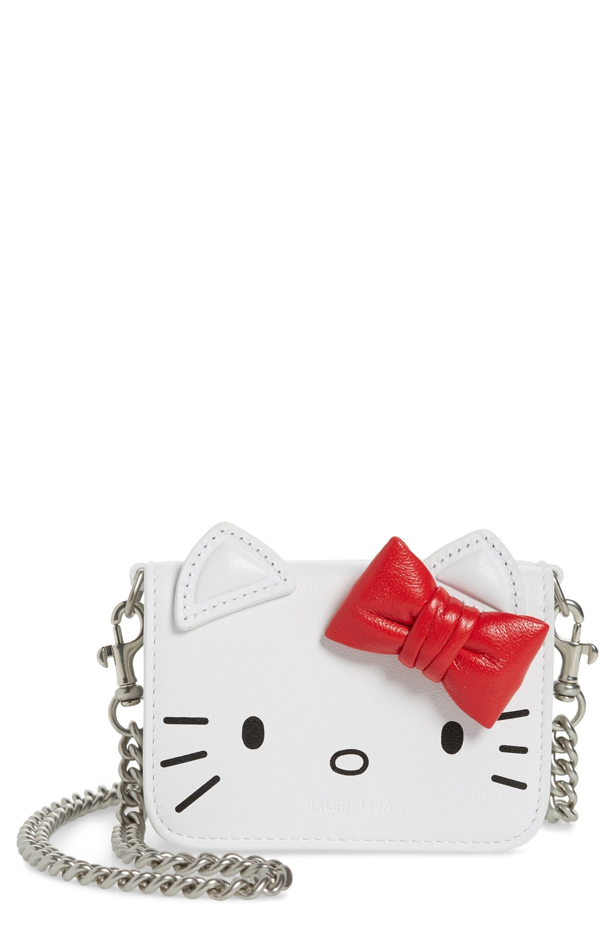 Kitty Mini Wallet - Optic White