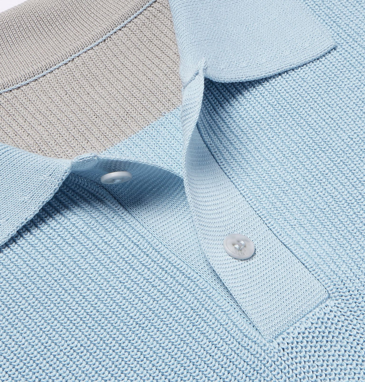 Le Polo En Maille -  Light Blue