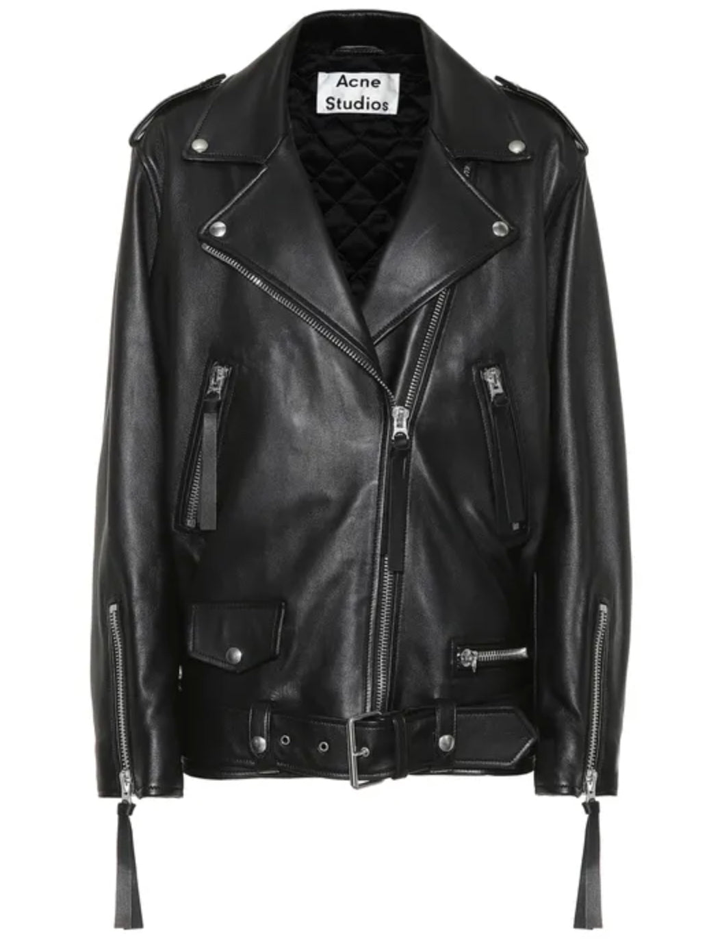 New Myrtle Leather Biker Jacket - Black