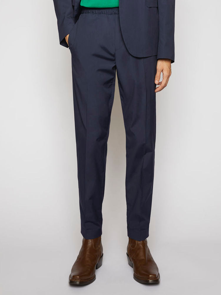 Ryder Cotton Trousers - Dark Blue