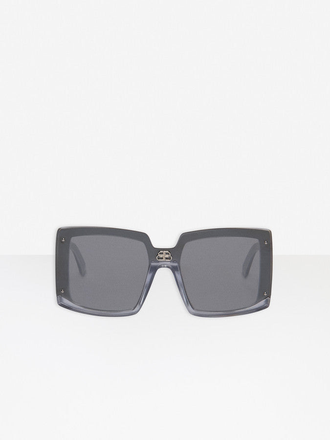 Shield Square Sunglasses - Silver Pearl