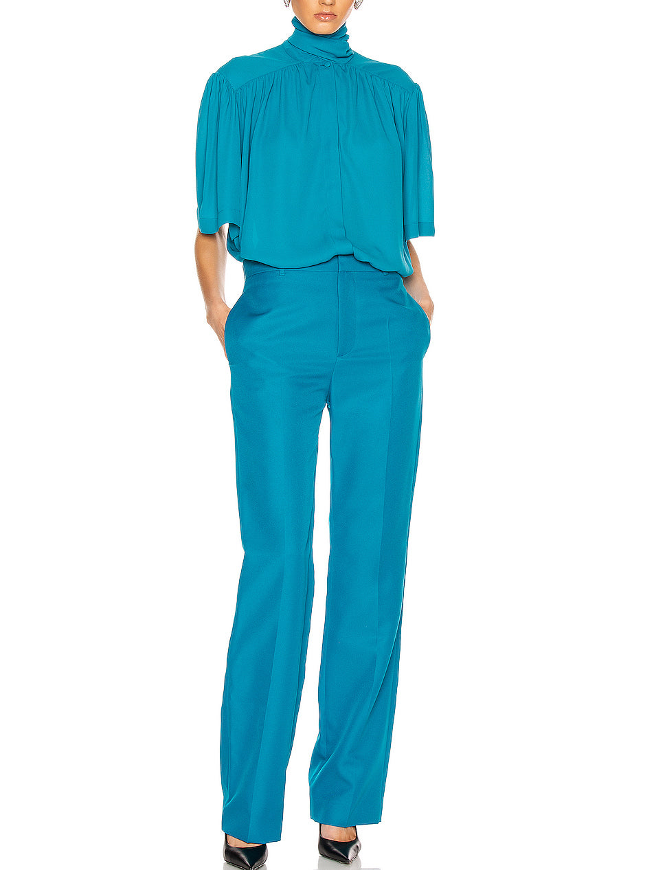 Tailored Pants - Petrol Blue