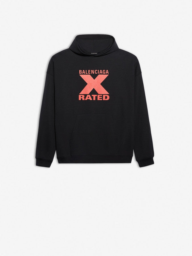 X-Rated Large Fit Hoodie - Black/Red