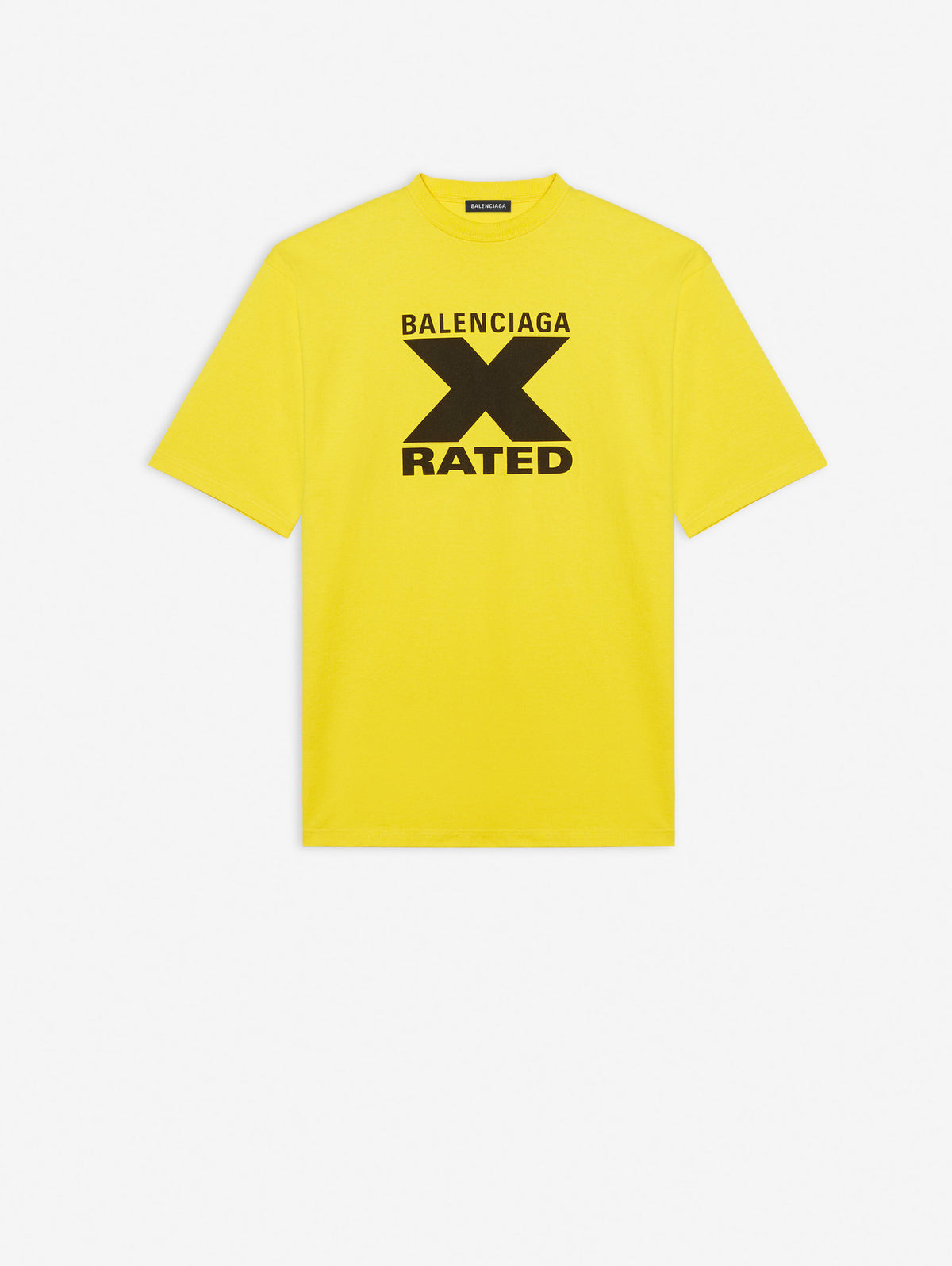 X-Rated Large Fit T-Shirt - Yuzu/Black