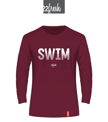 22fresh SWIM Maroon
