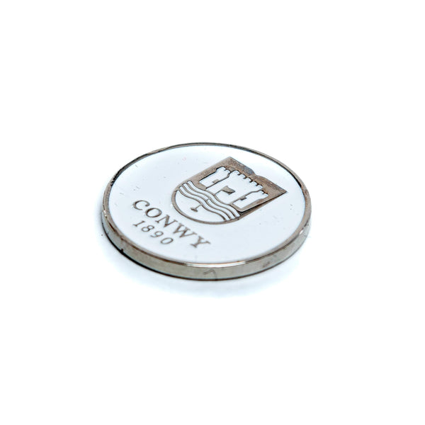 24mm Double Sided Enamel Ball Marker (Club Logo) - Curtis Cup 2020 - Conwy Golf Club