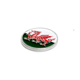 24mm Double Sided Enamel Ball Marker (Wales) - Curtis Cup 2020 - Conwy Golf Club