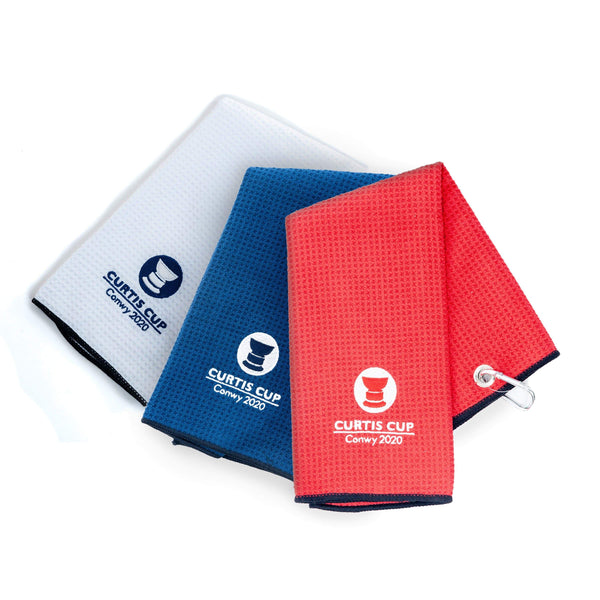 MicroFibre Waffle Trifold Towel - Curtis Cup 2020 - Conwy Golf Club