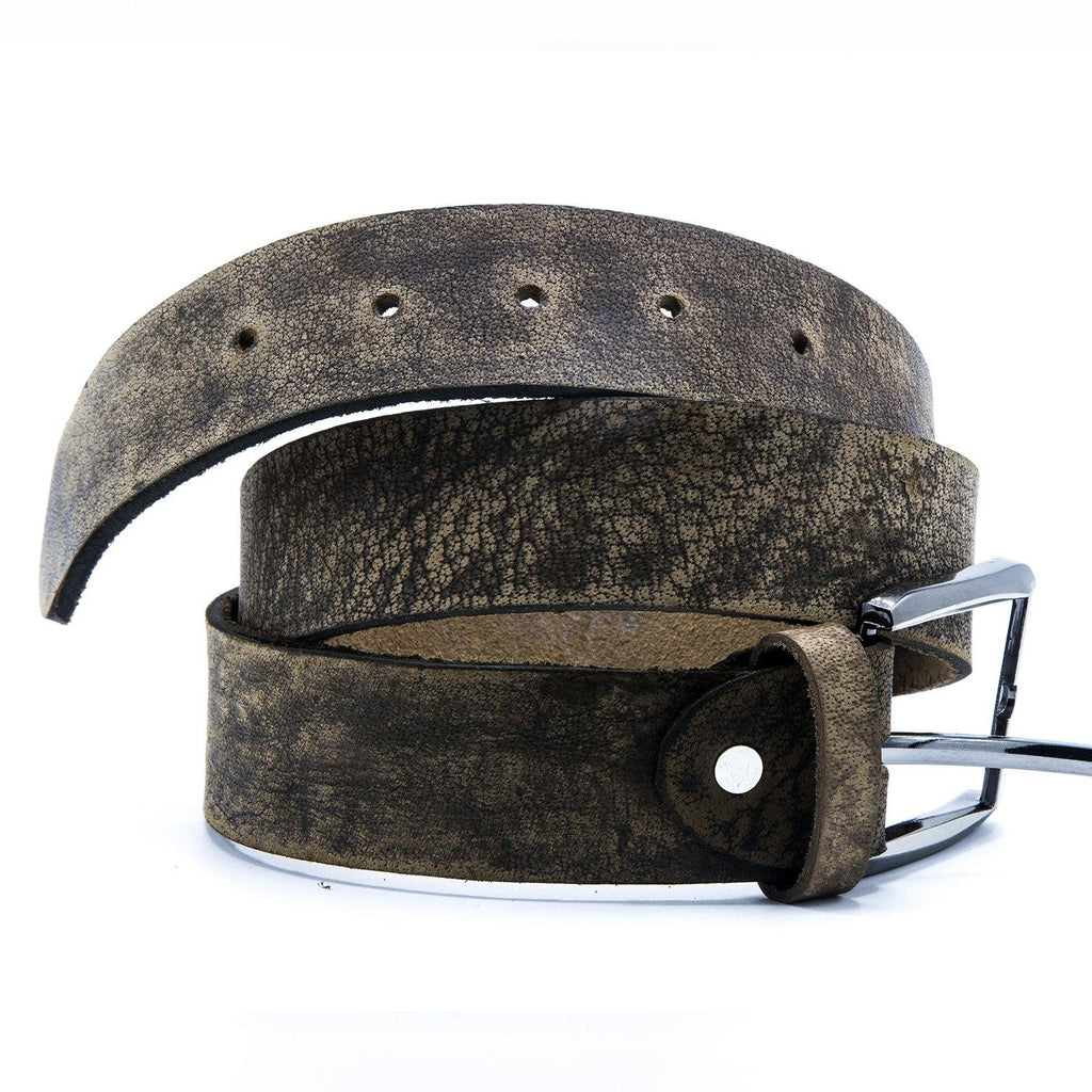 Men's Leather Brown Casual Belt