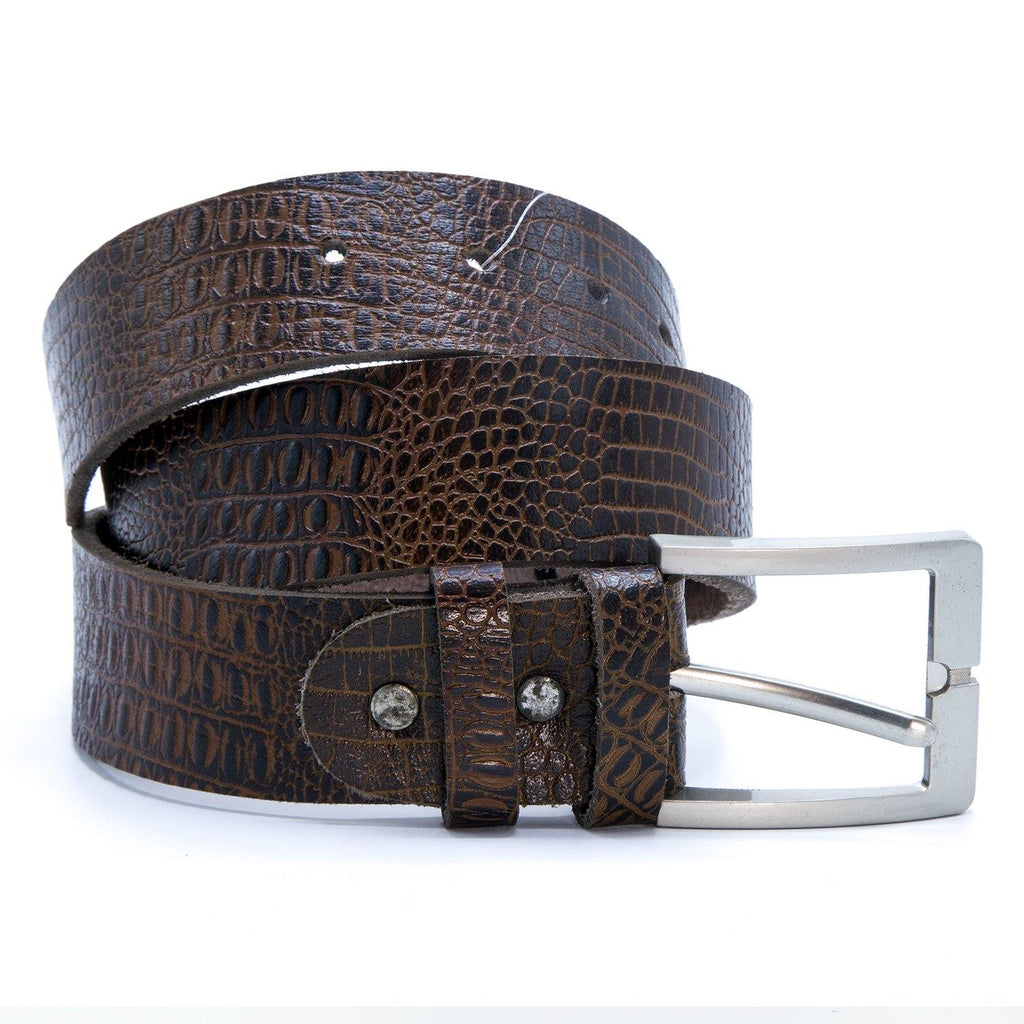 Men's Casual Brown Leather Belt
