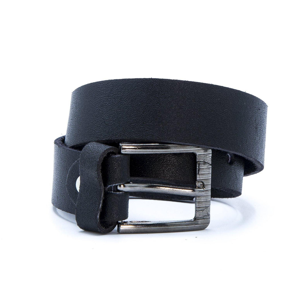 Men's Dress Black Leather Belt