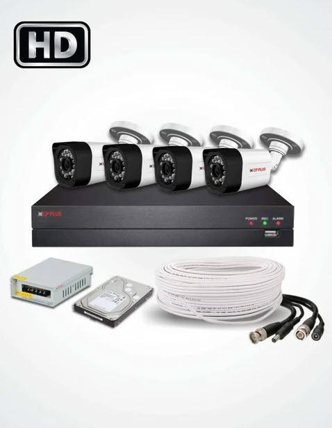 4 HD CCTV Cameras Solution (CP PLUS)