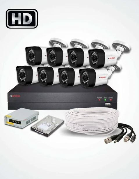 8 HD CCTV Cameras Solution (CP PLUS)