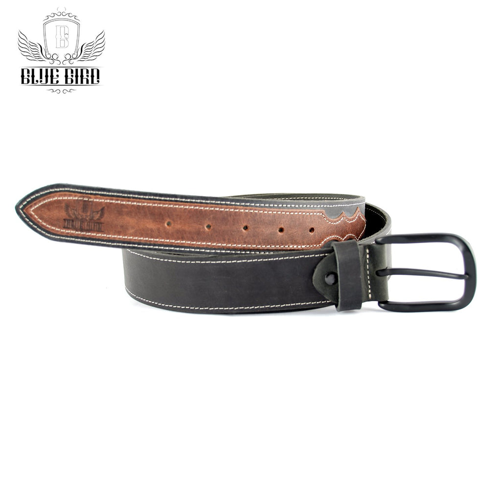 Blue Bird Leather Belt