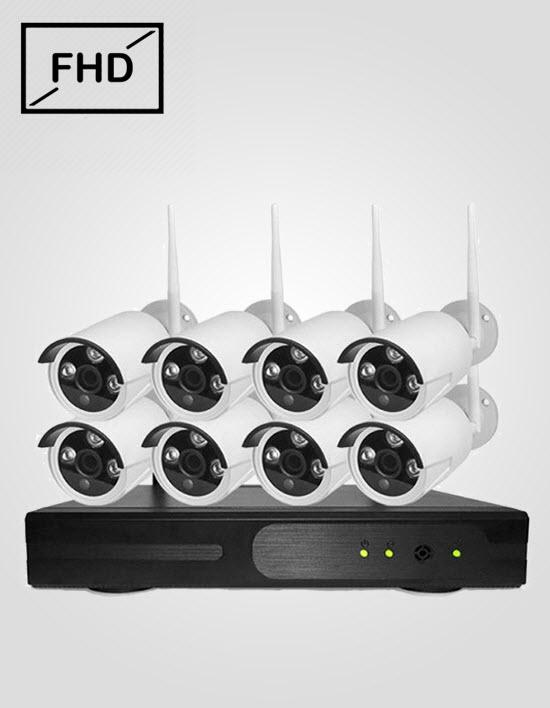 8 FHD IP Cameras Package (CP PLUS)