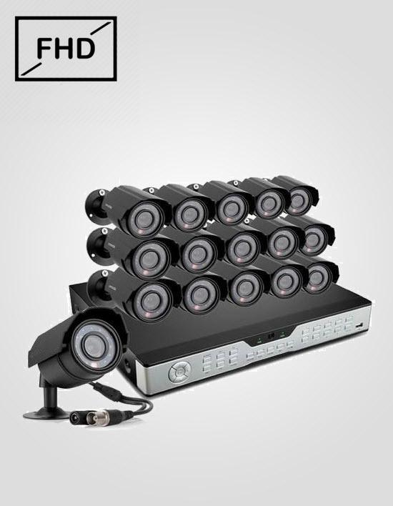 16 FHD CCTV Cameras Package (CP PLUS)