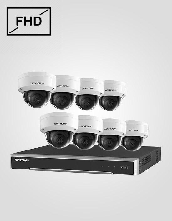 8 FHD IP Cameras Package (HIKVISION)