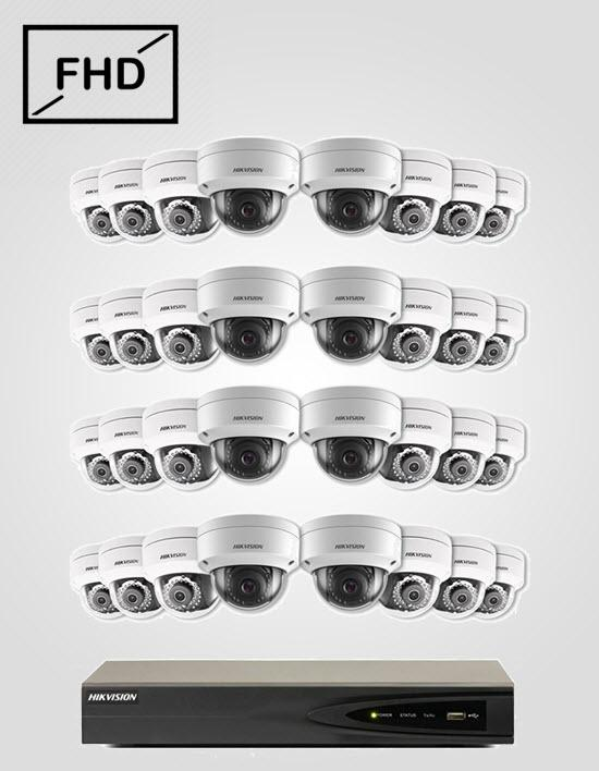 32 FHD IP Cameras Package (HIKVISION)