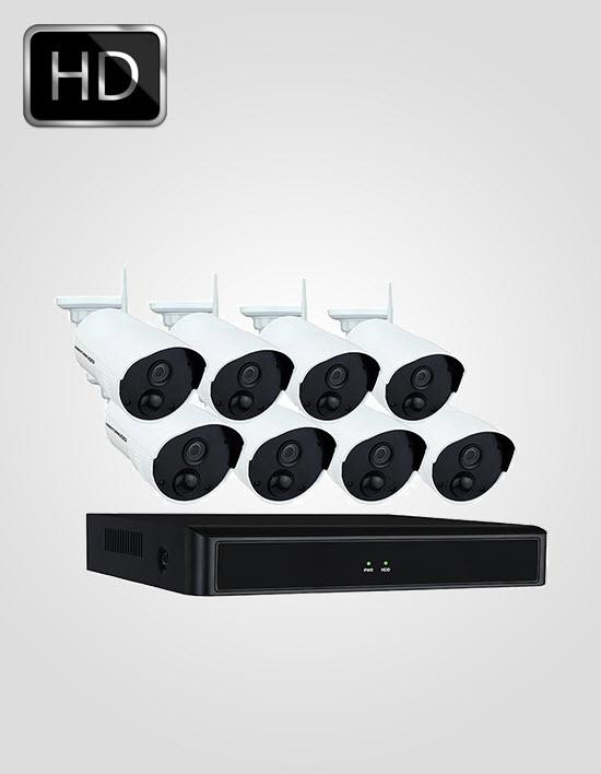 8 UHD IP Cameras Package (DAHUA)