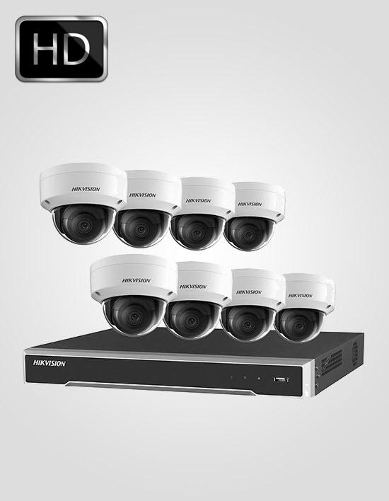 8 UHD IP Cameras Package (HIKVISION)