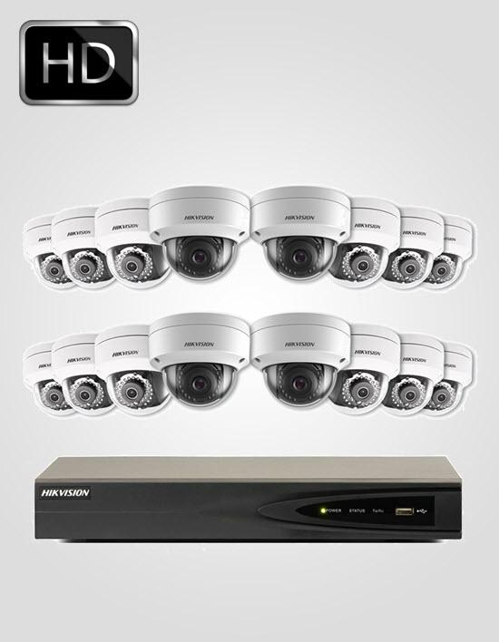 16 UHD IP Cameras Package (HIKVISION)