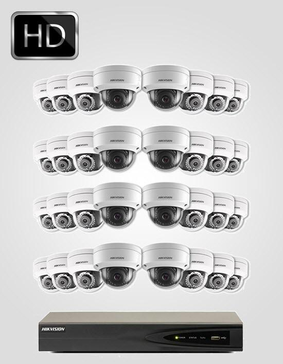 32 UHD IP Cameras Package (HIKVISION)