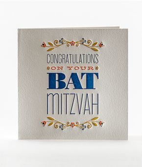 Congratulations on Your Bat Mitzvah