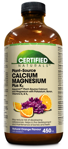 Certified Naturals Plant Source Calcium Magnesium Plus K2 liquid