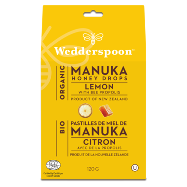 Wedderspoon Manuka Honey Drops Lemon
